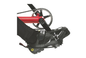 Pedal with clip and heel strap