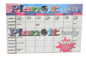 PLAN IT FAMILY - 52 blank grid pages for you to keep track of the week.